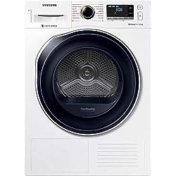 Samsung DV90M6200CW/EF Sèche Linge Condensation 9 kilograms Départ Différé, sonde électronique, Affichage du Temps Restant, Ecran Classe: 618246