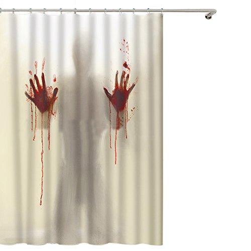 Blut Terror Scary blutig Bloody Neuheit wasserdicht Duschvorhang, Badezimmer Dekoration Bad Vorhang 180cm * 200cm ()