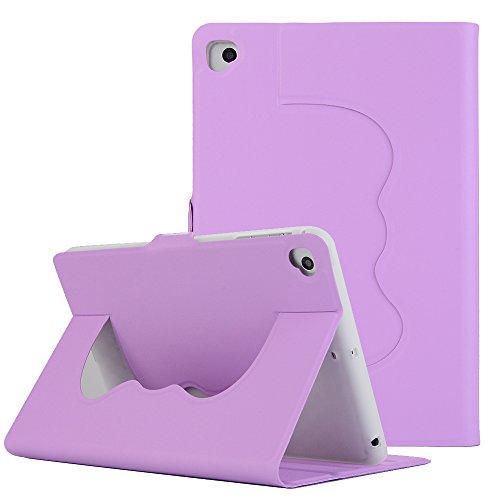 iPad Mini 2 Hülle, iPad Hülle Mini 3, TechCode Premium PU Leder Niedlich Schöne Muster Leichte Slim Fit Klapp Flip Hülle Folio Hülle für 7.9 Zoll iPad Mini 1/2/3/4 (Lila)