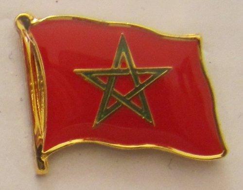 Marokko Pin Anstecker Flagge Fahne Nationalflagge Flaggenpin Badge Button Flaggen Clip Anstecknadel -