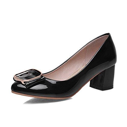 Damen Hoher Absatz Rein Ziehen auf Spitz Schließen Zehe Pumps Schuhe, Grau, 37 VogueZone009