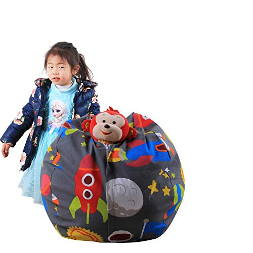 Quner Fagioli Aufbewahrungsbeutel für Kinder, Tiermotiv, 36-38 Zoll (36 cm), Modell Carino Astronauta für Kinder Lettura Coccole Lounging