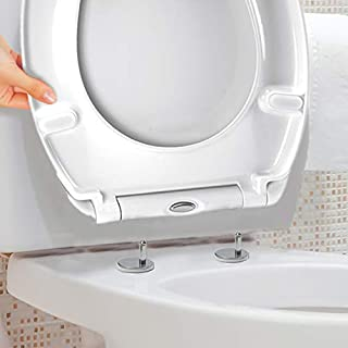 Luxury White Easy Clean Quick Release Oval Toilet Seat - Top Fix/Soft Close
