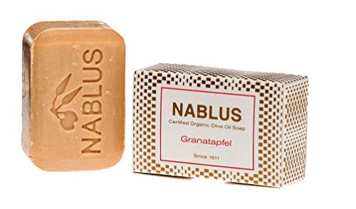 an-najah Soap Savon à l'huile pour peau exigeante Grenade, naturelles, anti-âge, sans parfum, pointe qualité, fait à la main et palmölfrei, 100 g