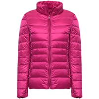 WJP mujeres ultra ligero de la chaqueta poco voluminoso abajo Outwear amortiguar por la chaqueta W-1995