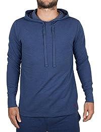 Polo Ralph Lauren Homme Marled Loungewear Logo Hoodie, Bleu