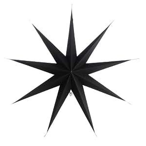 House doctor étoile de noël en papier star point 9 noir - 87 cm