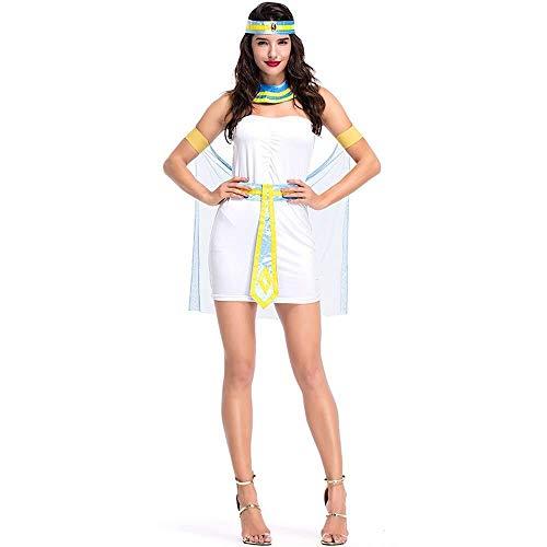 Göttin Kostüm Wasser - Hcxbb-b Halloween-Kleid, Kostüm Der Ägyptischen Königin, Arabische Göttin, Cosplay-Cosplay, Kostüm for Party/Festival-Aufführung In Der Nachtclub-Bar for Damen