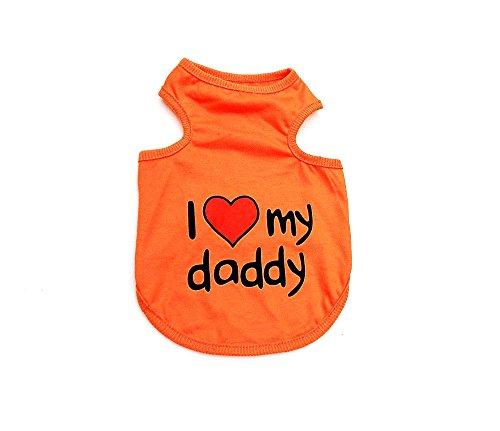 Smalllee_Lucky_Store Hundepullover I Love Mom Dad, für kleine Hunde, S–XXL