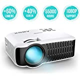ABOX T22 Mini Proyector, LED 2400 Lúmenes Proyector Portátil de Cine en Casa 1080P Soporte yardmile.info Fire TV Stick, HDMI, VGA, USB, AV, iPad, iphone, Android Smartphone Multimedia Video Proyector