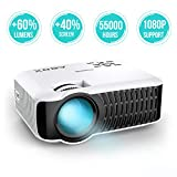 Video Projector 2000 Lumens, ABOX T22 LED Mini Video Projectors Support 1080P Input