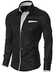 Élégant trendy hommes occasionnels mince chemises habillées belle Slim Fit Top Shirt collection
