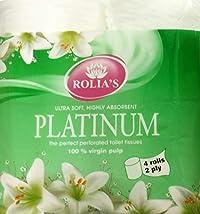 Rolia's Platinum Toilet Rolls Pack of 4