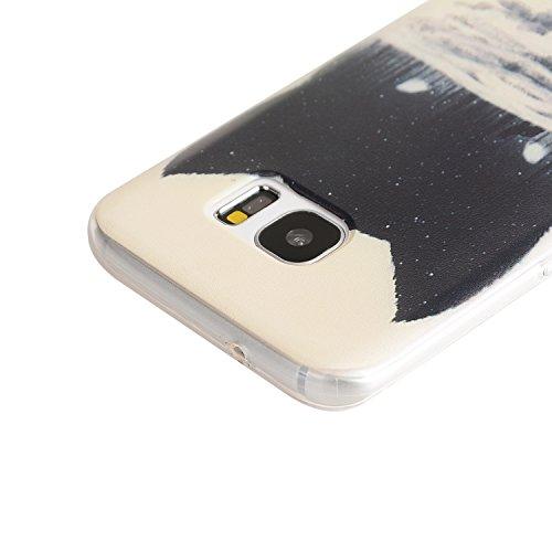 TPU Coque Samsung Galaxy S7 Edge,Housse Slim Coque Transparent Etui, Samsung Galaxy S7 Edge Case Souple TPU Bumper Protective Cover Skin, Crystal Clear Couverture Arrière Etui de Protection Case Anti Rayure Anti Choc +Bouchons de poussière (13QQ)