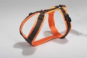 Brustgeschirr Protect leuchtorange mit Reflektoren - Gr. L