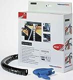 HellermannTyton Spiralschlauch +Werkzeug HWPP16L2 BK+WZ(VE2m) schwarz Spiralschläuche Helawrap Kabelbündelungsschlauch 5022660178283