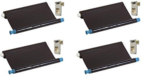 Preisvergleich Produktbild 4x kompatibler Ink-Film Faxfilm ersetzt Philips PFA351 mit Chip