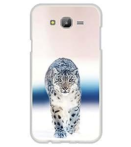 Fiobs Designer Back Case Cover for Samsung Galaxy E5 (2015) :: Samsung Galaxy E5 Duos :: Samsung Galaxy E5 E500F E500H E500Hq E500M E500F/Ds E500H/Ds E500M/Ds (Leopard White Cheetah King)