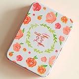 13 : 1 x Cute Square cardfile tin box pill case househould cable organizer kawaii storage box candy jewel container tea zakka tin box