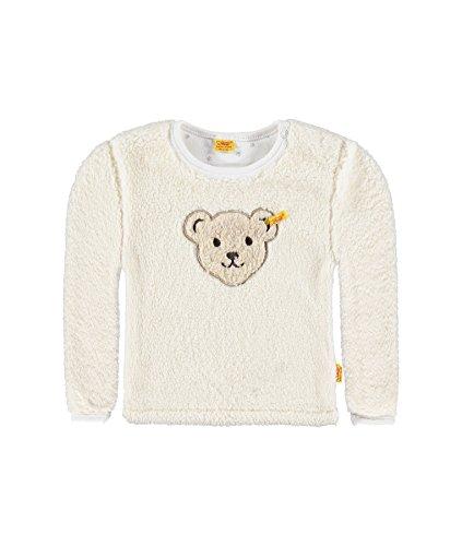 Steiff Collection Jungen Sweatshirt Sweatshirt 1/1 Arm, Gr. 68, Weiß (cloud dancer 1610)
