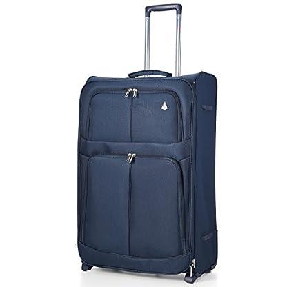 Maleta de Aerolite la más ligera del mundo, maleta de equipaje con ruedas y bolsillos; de 66 cm/68litros (2ruedas).