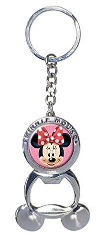 Disney Pewter Bottle Opener Key Ring Minnie Mouse