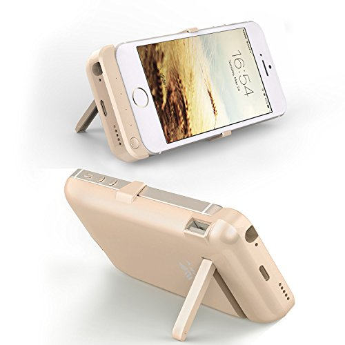 SAVFY iPhone SE 5S 5 Akku Hülle 4200mAh Power Bank iPhone SE 5S 5 Externe Batterie Backup Case, Gold Gold