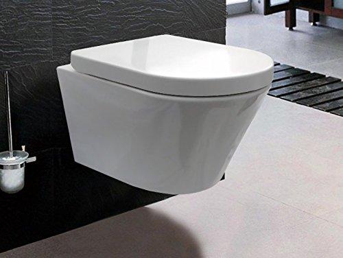 Unbekannt BERNSTEIN Luxus-Wand-Hänge-WC Toilette Softclose CH1088