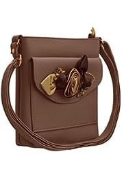 JFL Fancy Stylish Party Wear Women's Sling Bag With 3d Rose Flower.