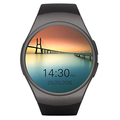 Control Remoto Dorado/Negro/Blanco Tomar fotografía 240 * 240 píxeles Teléfono Smart Watch King-Wear KW18 Reloj Inteligente con frecuencia cardíaca Sim y TF, Negro