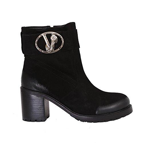 Versace Jeans  Linea Buckle Suede, bottine désert femme Noir