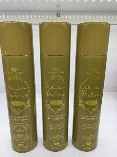 Lot de 3 Air fresher 300ml Al Rehab Sultanah + 1 OFFERT