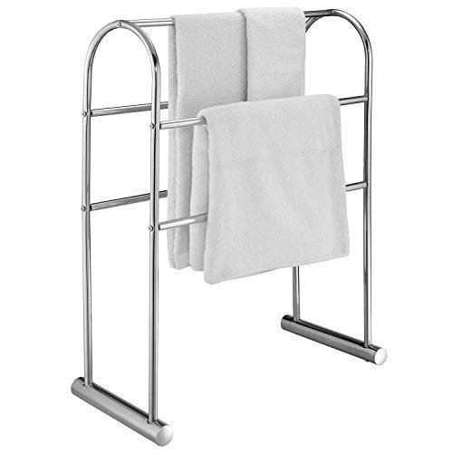 81,3cm verchromt 5Bar Handtuch Ständer Organizer, freistehende Badewanne Trocknen Rack -