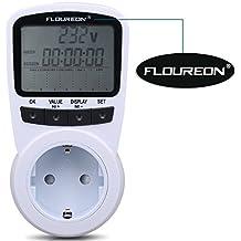 Floureon TS-1500 Interrutore Misuratore di potenza programmabile Misuratore del consumo di corrente Misuratore di energia con la funzione della protezione dal sovraccarico