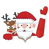 Auto Aufkleber Lustige Sankt-Wischer-kreative Persönlichkeits Weihnachtsgeschenke, Abnehmbar und Austauschbar, Können Sie leicht Abreißen, Ohne Dass Ihr Fahrzeug Deschädigt Wird.