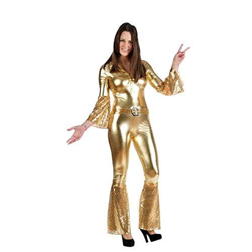 Limit Diva-Kostüm für Erwachsene, gold, Größe M