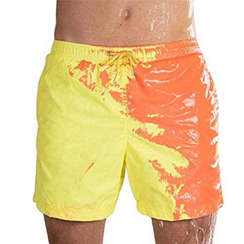 Alexsix Temperature Sensitive Color Changing Beach Pants Shorts Soft for Swimming Pool -