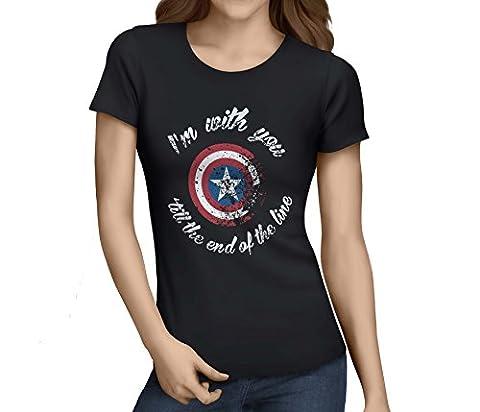 Captain America Fille Costume For Kids - WhizGuide - T-shirt - Femme - Noir