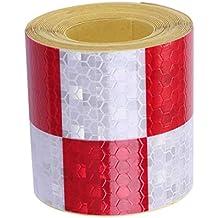 Reflektierende Sicherheit Band 50mm X 10m Rot Sie Selbst Klebend Vinyl Hohe
