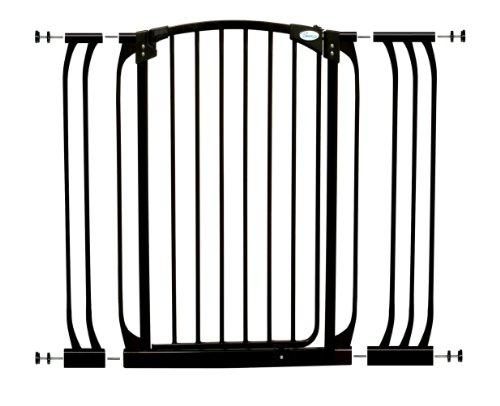 Dreambaby F782B Chelsea extra großes Treppenschutzgitter / Türschutzgitter-Set selbstschließend - 1 Gitter + 2 Verlängerungen (71-107cm) schwarz
