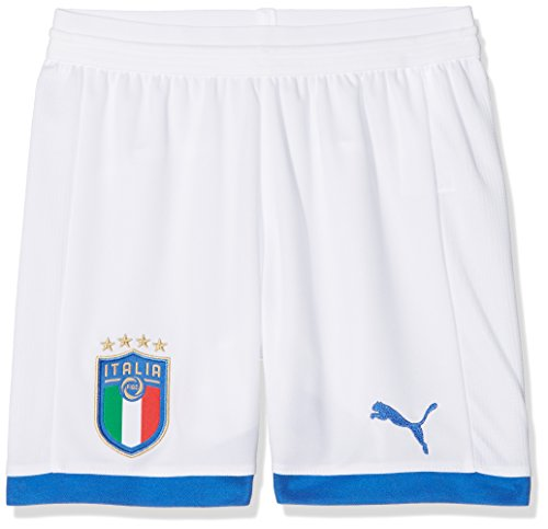 PUMA Kinder FIGC Italia Kids Shorts Replica Hose, White/Away, 128