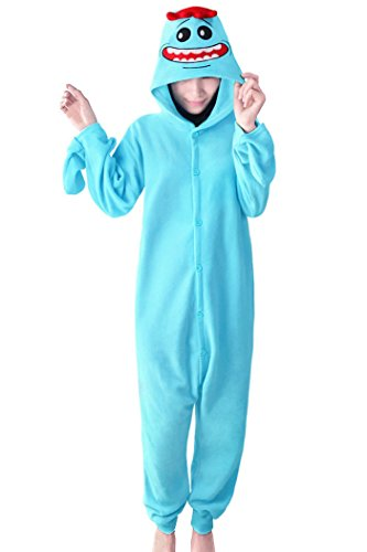 wotogold Tier Rick Pyjama Unisex Erwachsene Cosplay Kostüme Blue