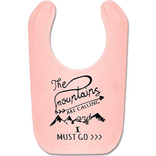 Up to Date Baby - The Mountains are calling - Unisize - Babyrosa - BZ12 - Baby Lätzchen Baumwolle (Lustige Date Kostüm)