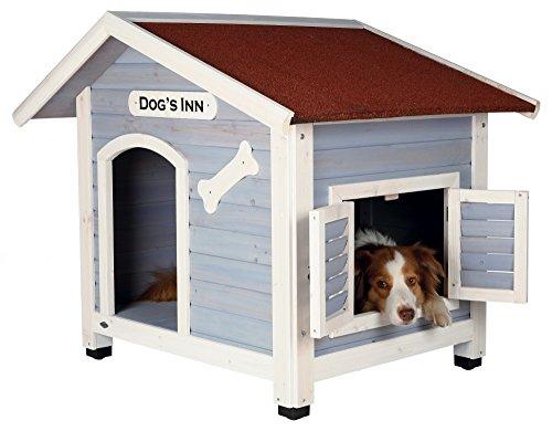 Trixie   natura Hundehütte Dog's Inn mit Satteldach hellblau/weiß   L 107 x B 93 x H 90 cm - 2