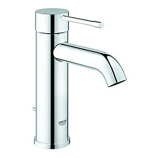 Grohe Essence – Grifo de lavabo monomando con vaciador automático y función de ahorro energético, con conexiones flexibles (Ref. 23591001)