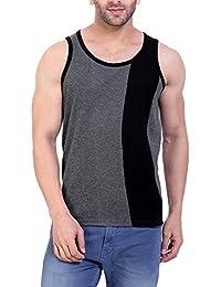 LIFEIDEA Men Vest Jockey For   Men Vest   Men Vest Half Sleeve   Men Vest Printed   Men Vest Design In Black And...
