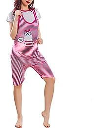 Donna Da E Mucca it Notte Pigiami Camicie Amazon Rosa fzvqc8PPH
