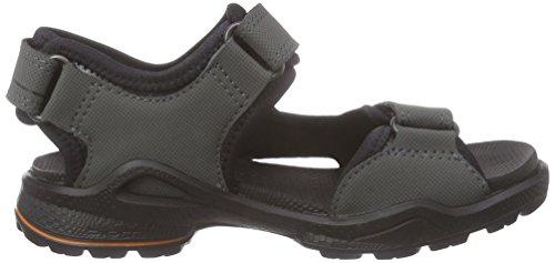 Ecco Ecco Biom Sandal, Sandales premiers pas bébé garçon Gris - Grau (DARK SHADOW/BLACK56357)