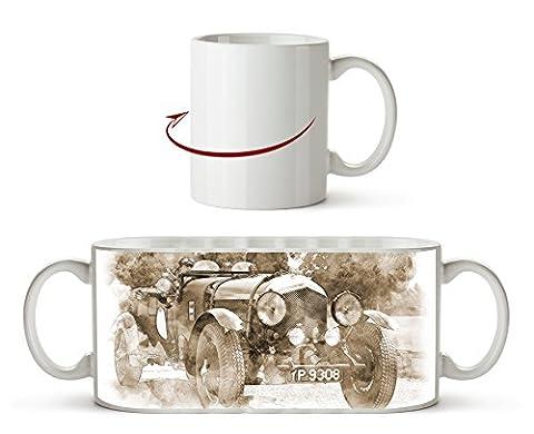 Klassischer Oldtimer Effekt: Sepia als Motivetasse 300ml, aus Keramik weiß, wunderbar als Geschenkidee oder ihre neue Lieblingstasse.