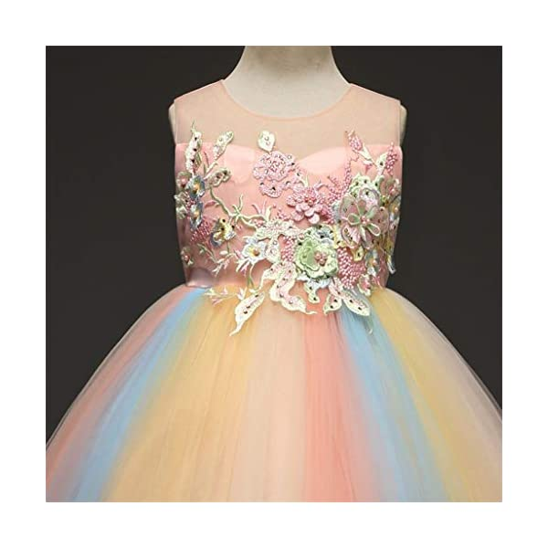 Vectry Vestido Niña Disfraz Niña Bebé Niñas Flores Tulle Princesa Vestido Fiesta Ropa Formal Tutú Princesa Vestido Ropa… 5